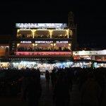 The souk plaza at night