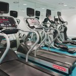 The Gym is fully air-conditioned with individual flat screen TVs