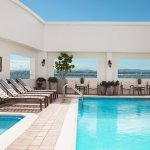 Rooftop pool & hot tub with new lounges and chairs