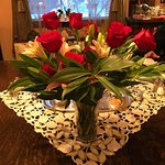 Valentine Flowers on dining table