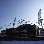 13.02.2017 in Nijmwegen, nur hier am Valkhof lag noch Schnee