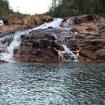 Fun waterfalls to swim and explore and relax