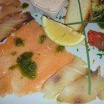 Selection of smoked fish
