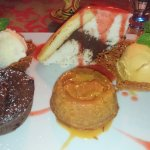Cakes selection and ice cream