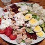 Cobb salad with lump crab meat.