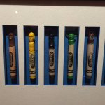 Crayons with carved Star Wars' character heads