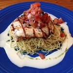 Chicken Breast with Angel Hair Pasta and Butter Sauce