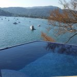 View from the common area for guests with infinity pool