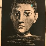 Pablo Picasso self-portrait as a boy although he was approximately 60 at the time.
