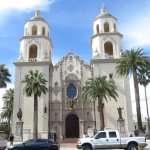 The grand exterior evokes the age of mission churches