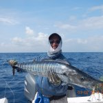 Second fastest fish a Wahoo caught on a fly