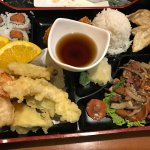 The Kitchen Bento, it's also served with miso soup and a salad