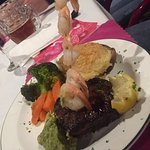 Steak and prawns, Positive return experience for Valentine's day, Micky J's, 2250 Fowler Rd | Ar