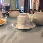 Tea and real teacups, a nice touch, Cafe Brie, 5-177 Second Ave W | Qualicum Beach, BC,, Qualicu