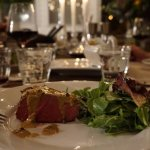 Dinner with Chateabriand of Beef & Bearnaise pepper sauce