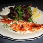 Fish dish and salad YUM!