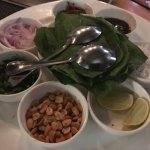 Spinach leaves appetiser.