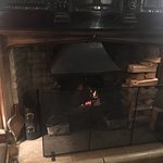 Lovely log fire in the oak room