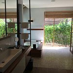 Villa bathroom, with jacuzzi and shower