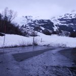 Worthington Glacier - the veiw towards the glacier from the ice bound road leading to the glacie