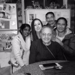 Julie, myself, Kishan, Sheela and Mrs Nagpal in the kitchen on my last night.