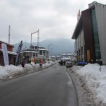 small mall and shops near hotel and 5 min walk to gondola
