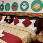 The soothing stupa design from eco suite room with a choice of double or single bed is the signa