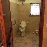 Clean and spacious toilets. And even space to change babies diapers