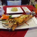 Lobster on BBQ with butter rice
