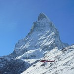 Matterhorn and a helicopter transportation