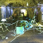 Underground tunnels and map