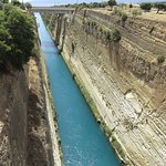 Corinth Canal from the walk way across the canal