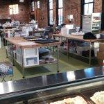 Inside the bakery