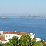 beautiful view of the bay in Ixtapa