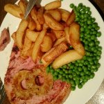 Had the gammon pineapple chunky chips and peas today it was lovely very nice choice on the menu