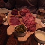 the mountain of meat from the sampler.