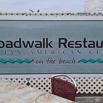 """One of the restaurants we ate at...it really is """"Broadwalk"""" folks!"""