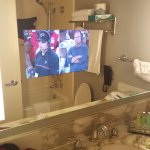 tv embedded into w/r mirror was cool