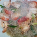 Glass Noodles Soup with Prawns.