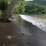 First stop at the black sand beach