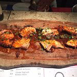 octopus boiled with capers. Yummy! amazing glaze parika