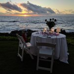 Candlelight sunset dinner on Valentines Day