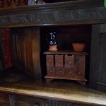 the spice box in the dining room