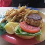 Crab cake sandwich platter
