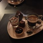 Fondu au cèpes plus café gourmand