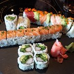 California roll, rainbow and more sushi.....