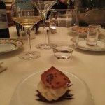 Mise en bouche, mousse de foie gras.