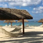 Lovely infinity pool, clear water with good snorkeling, plenty of beach front spots, perfect for