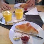 Hungarian Breakfast (croissant, orange juice)