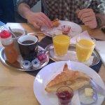 Hungarian Breakfast (croissant, orange juice, warm drink)